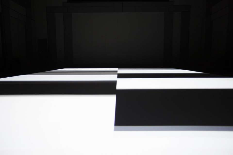 test pattern [n°6] by Ryoji Ikeda at Spiral Hall