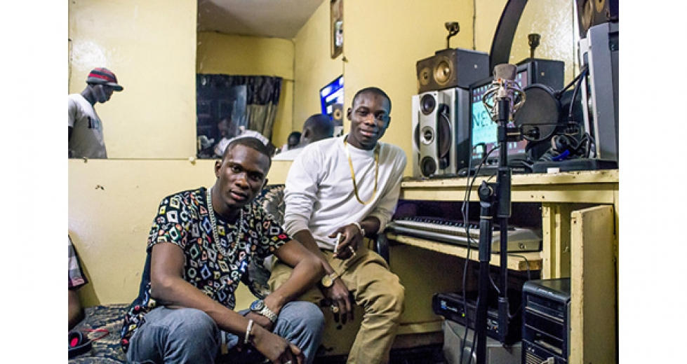 Iba One and Sidiki Diabate in the studio / Credit: Andy Morgan